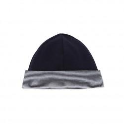Baby boy's reversible fleece cap