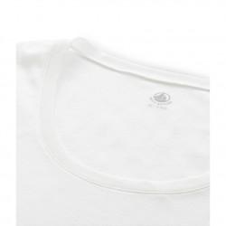 Women's long-sleeved scoop neck T-shirt in light cotton