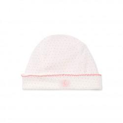 Newborn baby girl's printed beanie cap