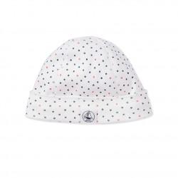 Newborn baby boy's printed beanie cap