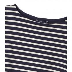 Women's striped top in heavy jersey