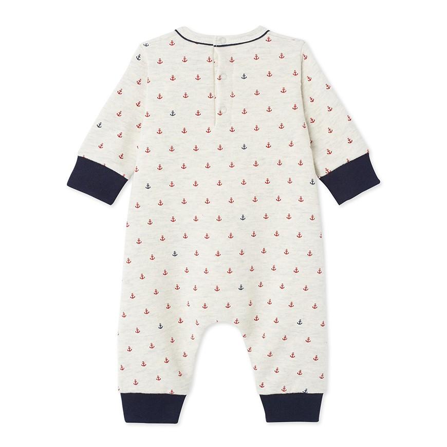 Baby boy s jumpsuit in printed fleece - petit-bateau.gr 9cea322676f