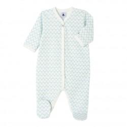 Baby girl's patterned sleeper