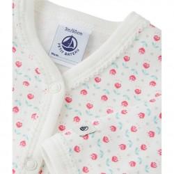 Baby girl's winter jersey sleeper