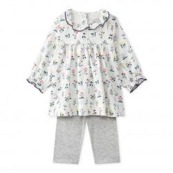 Baby girls' printed tube knit dress + leggings