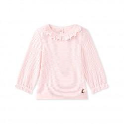 Baby girls' striped T-shirt