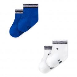 Set of 2 pairs of unisex baby's socks