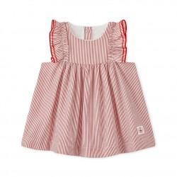 Baby girls' striped poplin dress