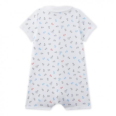Baby boy's print romper