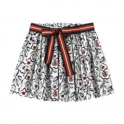 Girl's printed poplin skirt