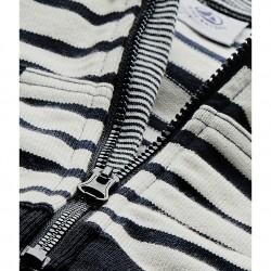 Baby boy's zippered sailor sweatshirt