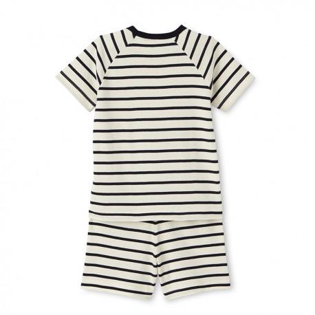 Boys' striped short pyjamas