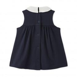Baby girls' sleeveless dress in tube knit