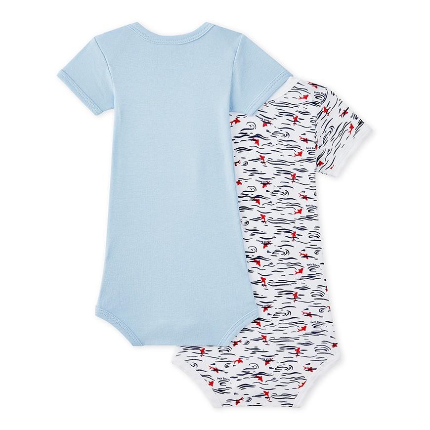 Set of 2 baby boys  short-sleeved bodysuits - petit-bateau.gr 68dd98e9492
