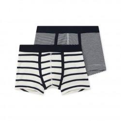 Set of 2 boy's striped boxers
