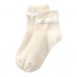 Girls' lace-trimmed socks