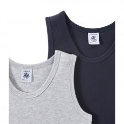Set of 2 boy's plain undershirts