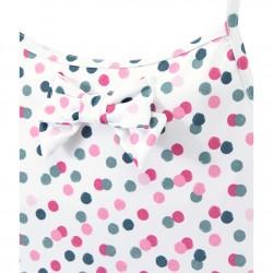 Girl's one-piece big polka dot swimsuit