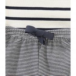 Girls' striped short pyjamas