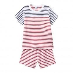 Boy's striped shortie pyjamas