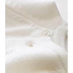 Βρεφική μπλούζα κρουαζέ από μαλλί και βαμβάκι