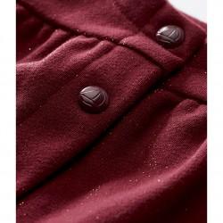 Ζακέτα γυαλιστερή από βαμβακερό fleece