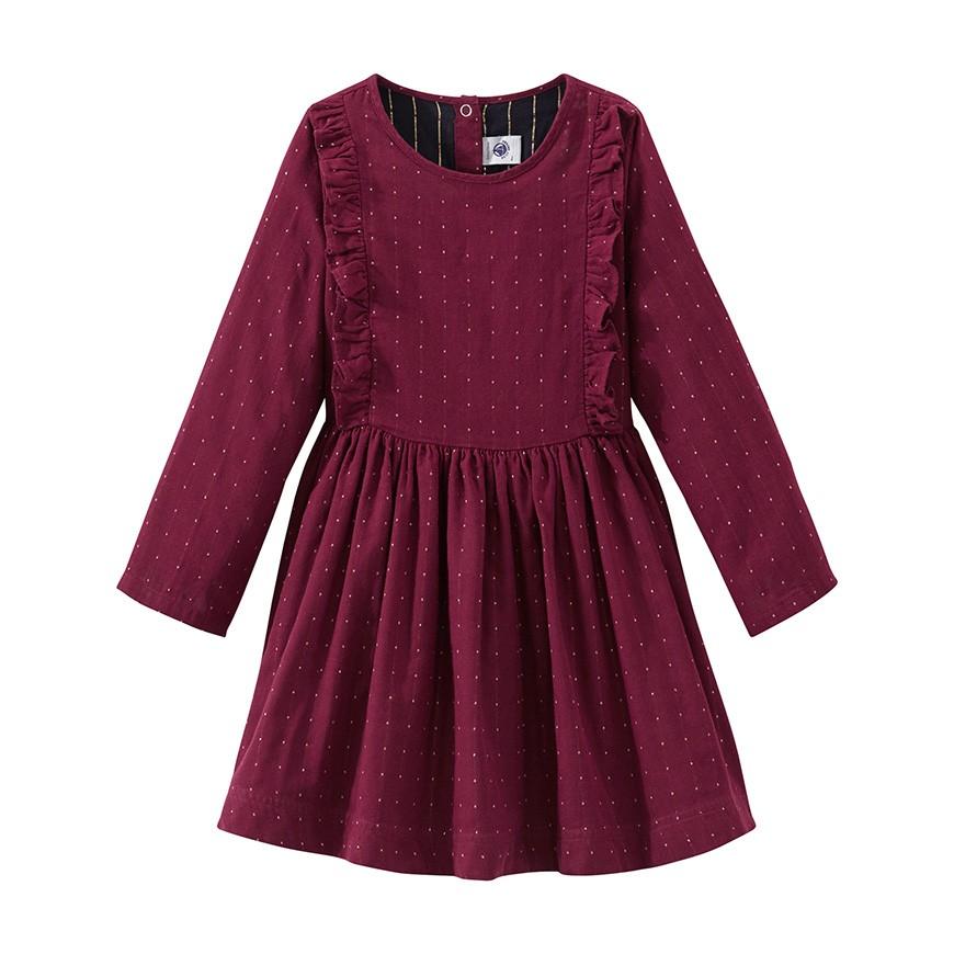 64700c071987 Φόρεμα με πουά γκλίτερ - petit-bateau.gr