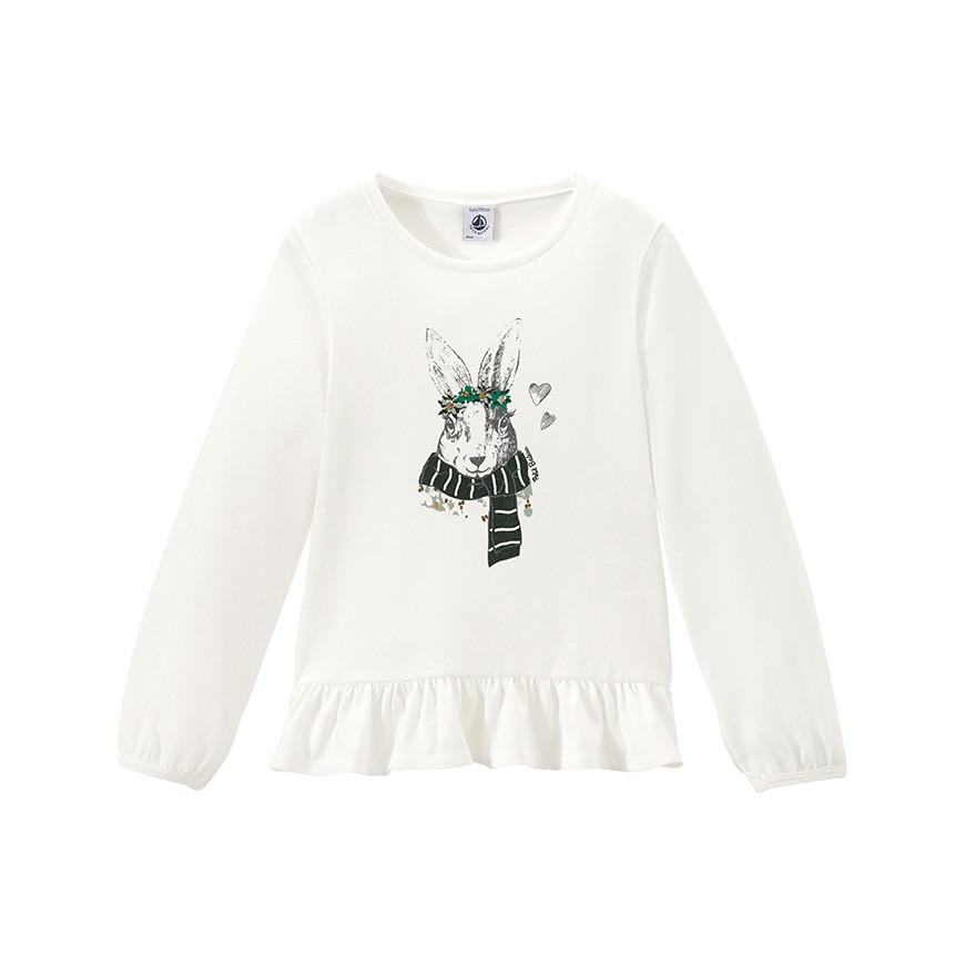 8b3fb6a86fcc Μακρυμάνικη μπλούζα με στάμπα για κορίτσια - petit-bateau.gr