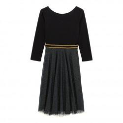 Φόρεμα γυναικειο απο δύο υφάσματα