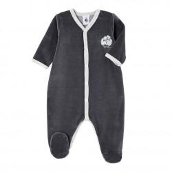 Unisex baby's terry velour sleeper