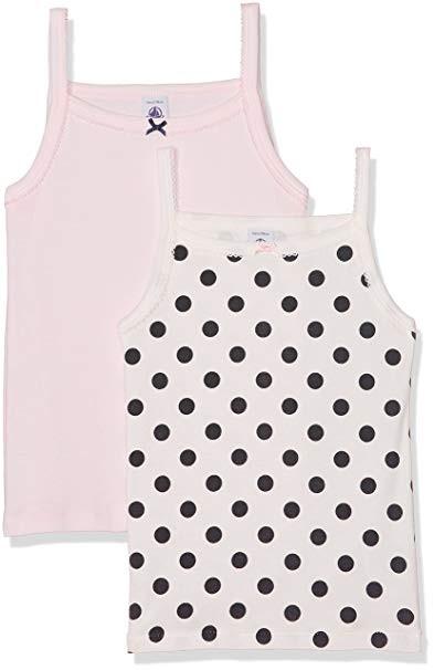 b6447b84cf6060 Set of 2 girl s printed and plain undershirts - petit-bateau.gr