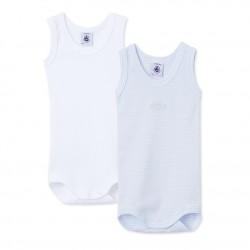 Baby Boys' Sleeveless Bodysuit - Set of 2