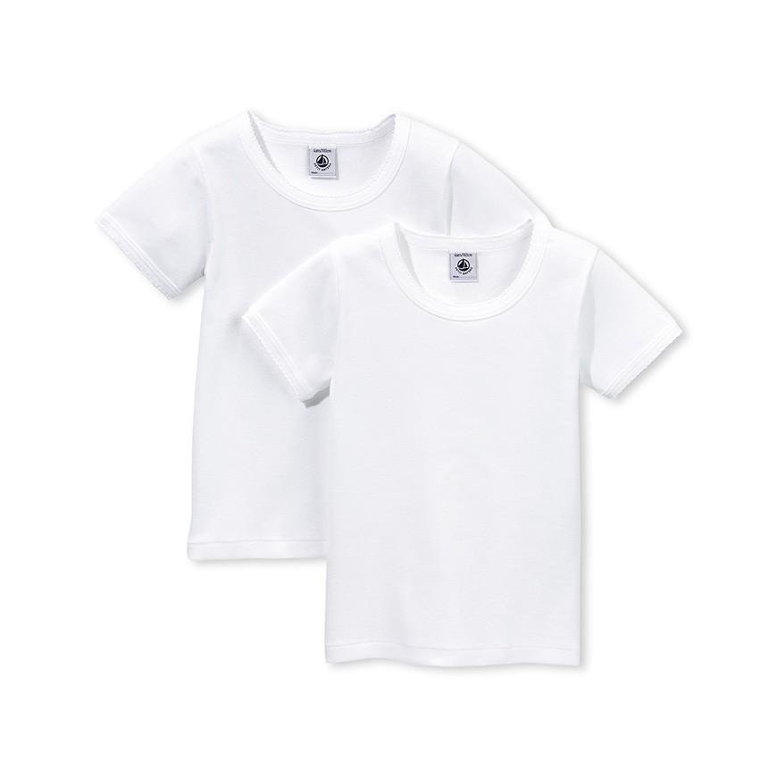 9fecce9343c Girls' Short-sleeved T-shirt - Set of 2 - petit-bateau.gr