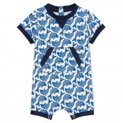 Baby boys' Shortie in light printed jersey
