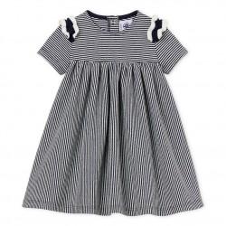 Baby girls' pinstriped dress