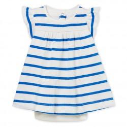 Baby girl's striped bodysuit dress