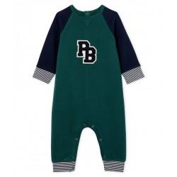 Baby Boys' Long Fleece Jumpsuit