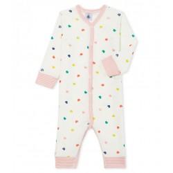 Baby Girls' Footless Ribbed Sleepsuit