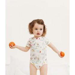 Baby Girls' Short-Sleeved Bodysuit - 3-Piece Set