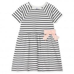 Baby Girls' Striped Short-Sleeved Dress