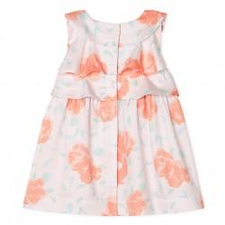 Baby Girls' Printed Satin Dress