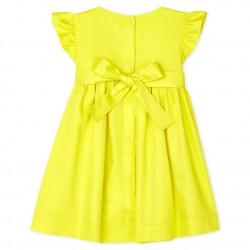 Baby Girls' Satin Short-Sleeved Dress