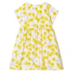 Baby Girls' Short-Sleeved Linen Dress