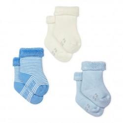 Knitted Babies' Socks - 3-Piece Set