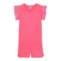 Girls' Ribbed Short Pyjamas