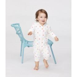Baby Girls' Tube-Knit Footless Sleepsuit