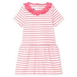 Baby Girls' Striped Dress with Ruff