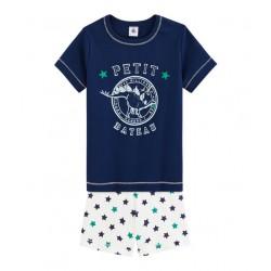 Boys` Cotton/Linen Short Pyjamas