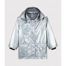 Girls' Silver Raincoat