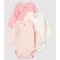 Newborn Babies' Long-Sleeved Bodysuit - 3-Pack